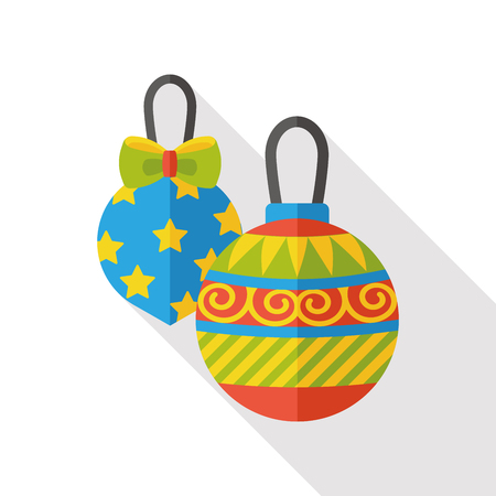 christmas baubles of modern design: Christmas ball flat icon