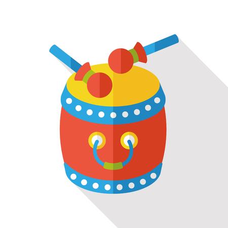 chinese drum: Chinese drum flat icon