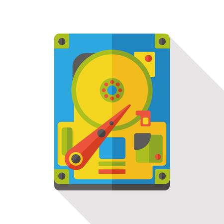 intruder: school alarm flat icon