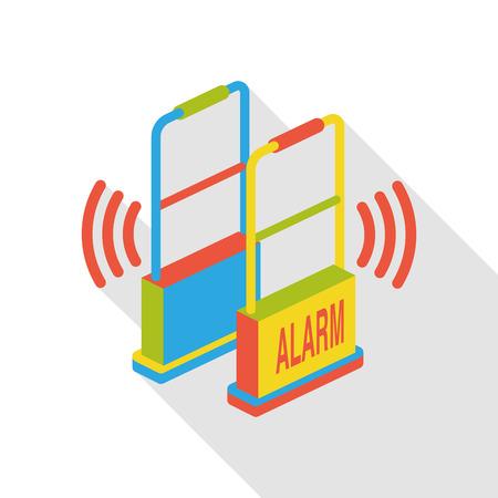 intruder: alarm door flat icon