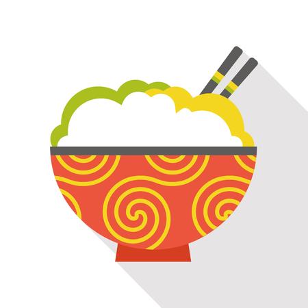 noodle flat icon Illustration