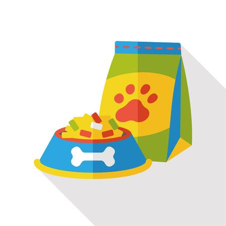 food: dog food flat icon