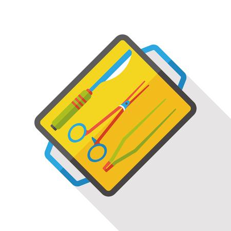 scalpels: Scalpels and scissors flat icon