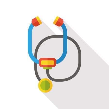 therapeutic: stethoscope flat icon Illustration