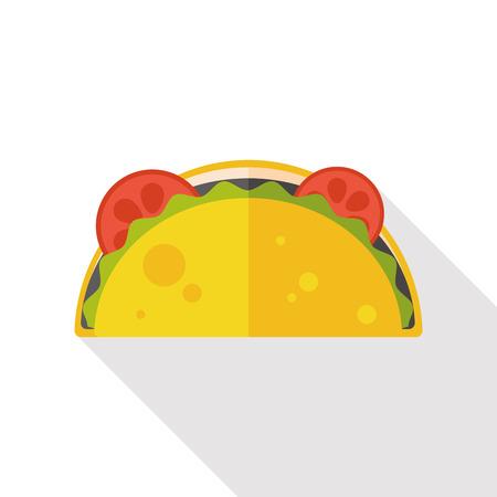 taco tortilla: burrito flat icon