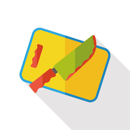 frying: kitchenware frying pan and shovel flat icon