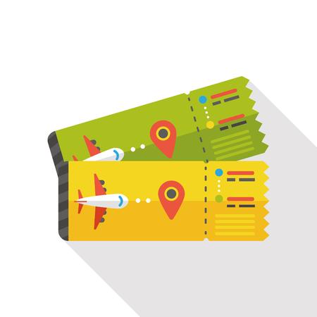 air ticket flat icon Illustration