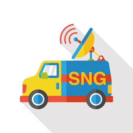 News car flat icon Illustration