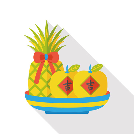 wealthy: Chinese New Year pineapple and apples; when you send pineapple for your friends in Chinese New Year means you wish them will be wealthy this year.