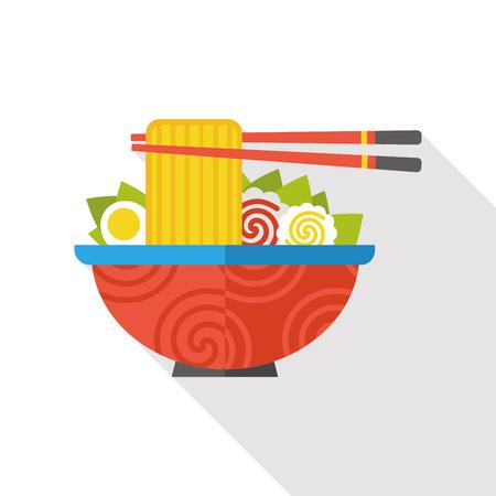 noodle flat icon Vectores