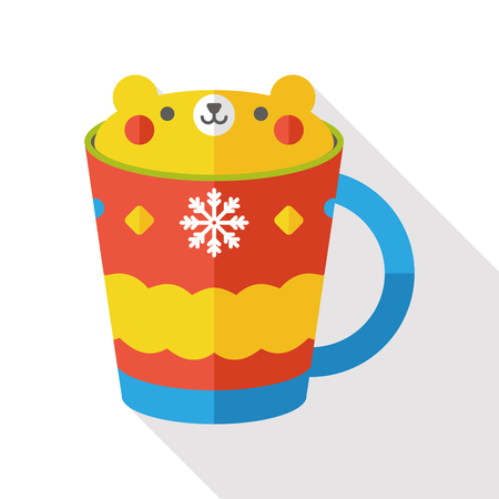 hot drink: hot drink flat icon Illustration