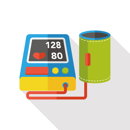 Blood pressure monitor flat icon