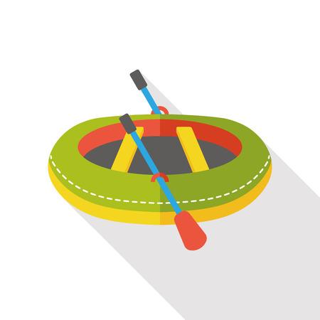 lifeboat: Lifeboat flat icon Illustration