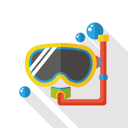 wear mask: Goggles flat icon