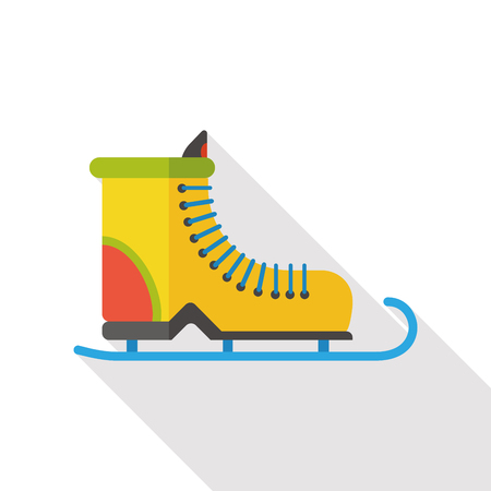 ice skate: Ice skate flat icon