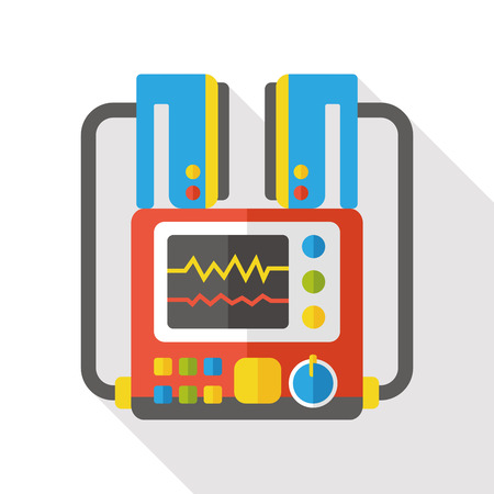 monitor in the ICU flat icon Illustration