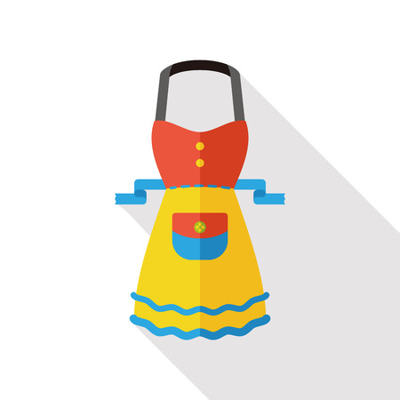specific clothing: kitchenware apron flat icon