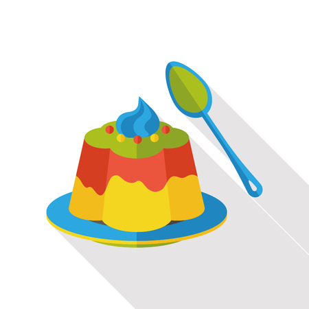 gelatina: pudding jelly flat icon Vectores