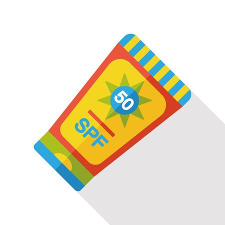 moisturizer: sunscreen flat icon Illustration
