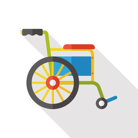 Wheelchair flat icon Stock Illustratie