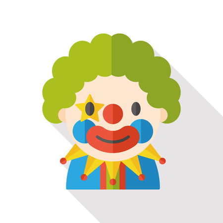 clown cirque: icone plat de clown