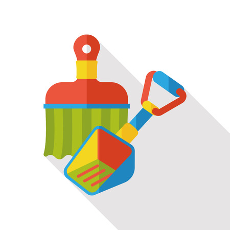 hand shovels: shovel flat icon
