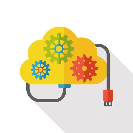 icloud: i-cloud flat icon