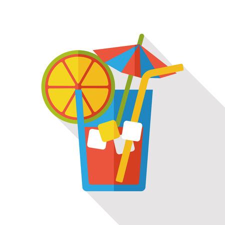tomando jugo: beber icono plana Vectores