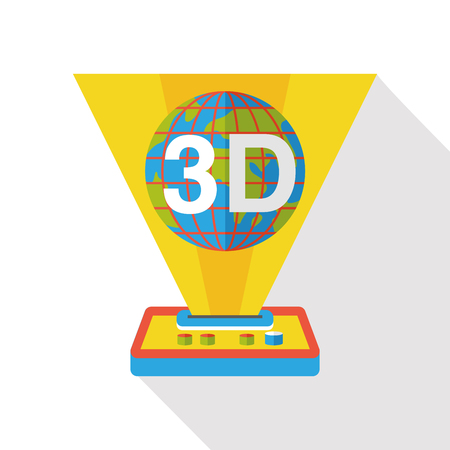 3D printing machine flat icon Stock Vector - 47559056
