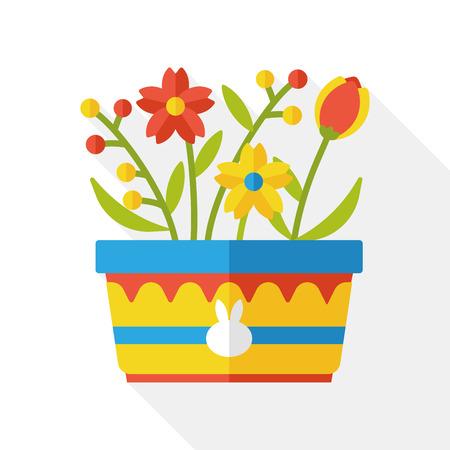 gardening: flower flat icon