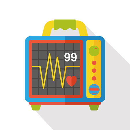 ecg: ECG flat icon Illustration