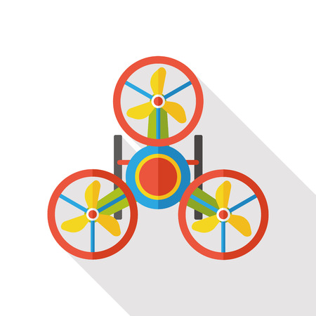 remote: Remote control helicopter flat icon Illustration