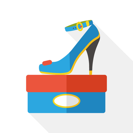 high heels: high heel flat icon