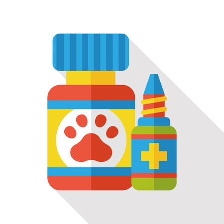 a drug: pet drug flat icon