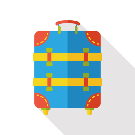 trolley case: suitcase trolley flat icon
