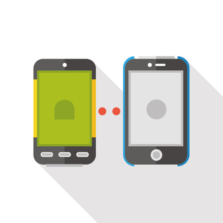 cellphone: cellphone connect flat icon Illustration