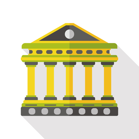 ionic: Architectural sculpture bank flat icon