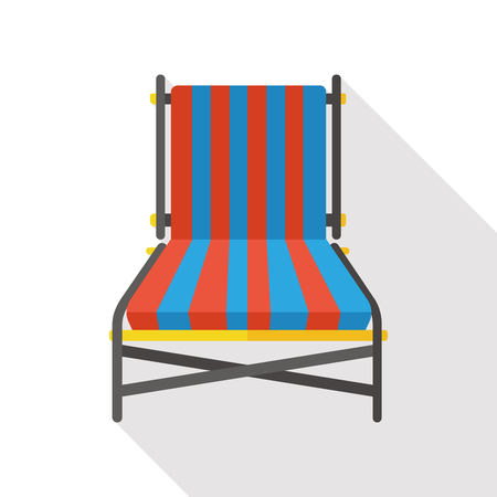 patio chair: lounge chair flat icon Illustration