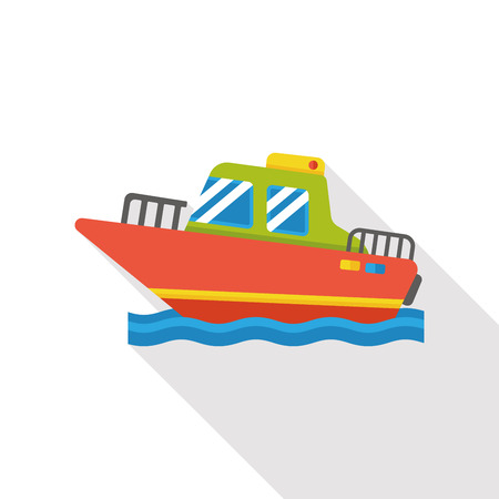 marine industry: sea ship flat icon