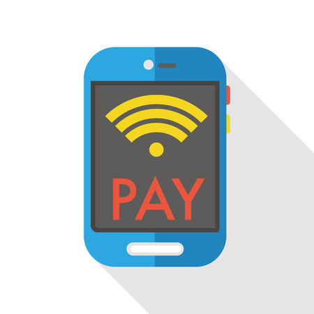 phone business: cellphone wireless flat icon Illustration