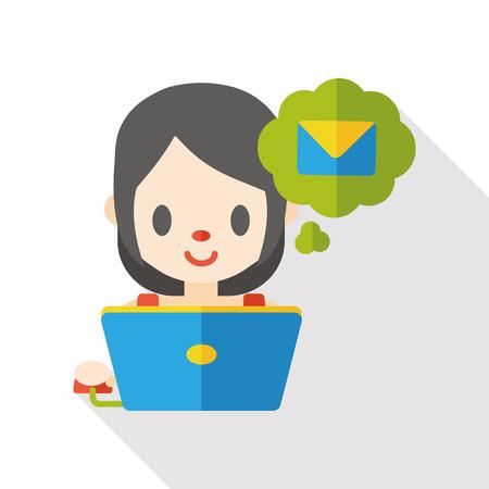 e mailing: internet e-mail flat icon