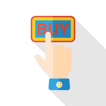 sketched shapes: buy button flat icon