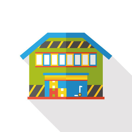 warehousing: warehouse flat icon