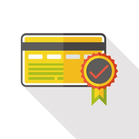 zertifizierung: certification card flat icon