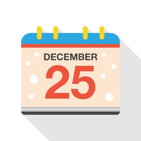 Christmas calendar flat icon Illustration