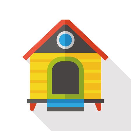 casa de perro: dog house flat icon Vectores