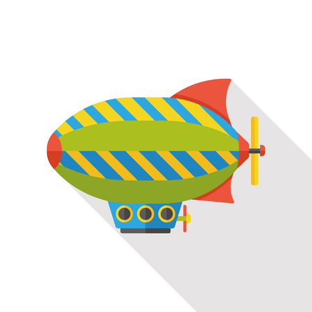 luftschiff: sky airship flat icon