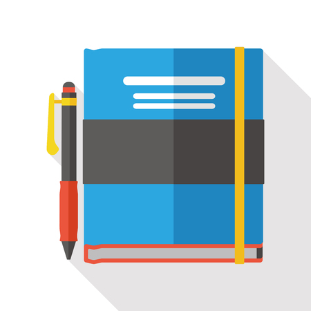 notebook: school notebook flat icon