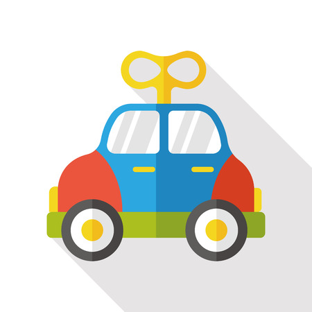 car isolated: baby toy car flat icon