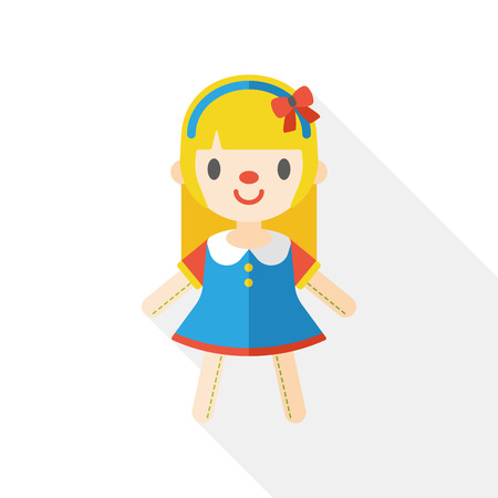 doll girl flat icon